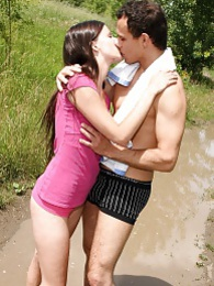 These teens have hardcore sex out in the woods for you pictures