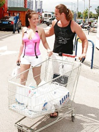He picks her up on the street for a good fuck in his garden pictures at lingerie-mania.com
