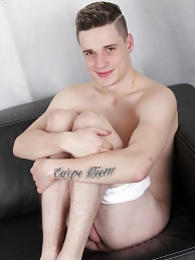 College boy Calvin Rosse masturbates with sneaker pictures at kilopics.com