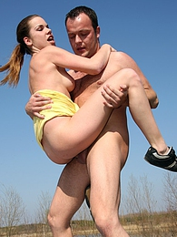 Couple having daring teenage sex on a public road hardcore pictures at freekilosex.com