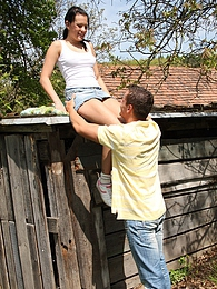 Hot horny teenage girl fucked hard outside in the garden pictures at dailyadult.info