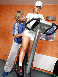 Cute blonde teen gets her tight asshole fucked in the gym pictures at dailyadult.info