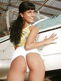An airplane loving teenager rubs her soaked tight vagina pictures at kilogirls.com