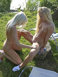 Two pretty blondes going at it.. every man's wet dream! pictures