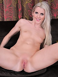 Tall blonde babe Lexi Lou gets naked in her her heels pictures at kilosex.com
