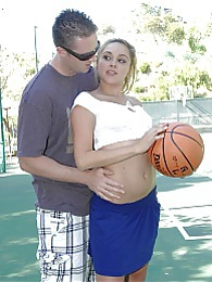 Cute teen Zoey Foxx fucked hard on the basketball court pictures
