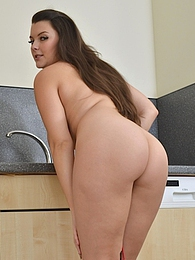 Thick babe Cherry Blush fondles her big natural tits pictures at adipics.com
