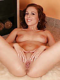Horny Antonia Sainz two fingers deep in her pussy pictures at adspics.com