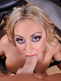 Claudia Valentine Secretary Slut Pics - Secretary Claudia Valentine sucks a huge fat cock pictures at adspics.com