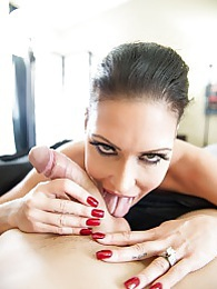 Jessica Jaymes Wake Up Swallow Pic - sucking on your cock and swallow pictures at freekilosex.com