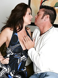 Intense hardcore scene with buxom MILF Raquel Devine fucking the guy who lives nextdoor pictures at freekilosex.com