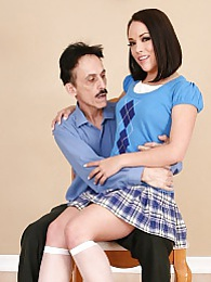 Kristina Rose has an old geeze for her stepdad that she enjoys fucking when moms not pictures at kilopills.com