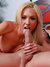 Victoria sucking off her stepdaddys big meaty cock before she sits on top and gives a ride pictures at lingerie-mania.com