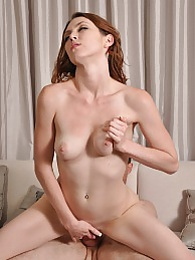 Megan Loxx takes her clothes off to swallow and give her stepdaddys cock a ride pictures at freekilomovies.com