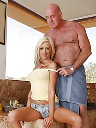 Blonde stepdaughter Kaylee Hilton fucking a guy whos old enough to be his grandpa pictures at freekilomovies.com