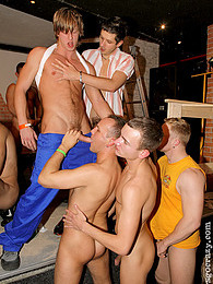Gorgeous gay guys enjoy drilling at a huge fucking party pictures at lingerie-mania.com