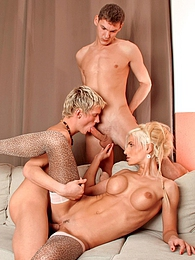 Three blondes are going at it in this bisexual hardcore trio pictures at sgirls.net