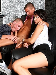She sucks his cock while he also sucks a cock and fucks pictures at find-best-babes.com