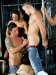 Its a hot bisexual orgy with hot girls and hung studs too pics