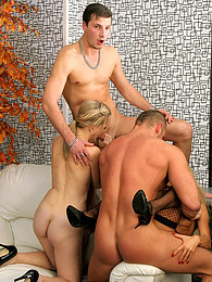 Getting their solid cocks sucked by hot horny men and chicks pictures at kilogirls.com