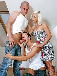 Bisexual sexy guys banging chick and each other hardcore pictures at dailyadult.info