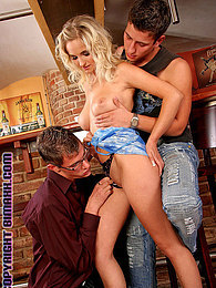 Two pretty chaps shagging a blonde and each other hardcore pictures at kilogirls.com