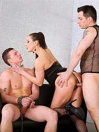 A slut and guy dominate other guy and make him pleasure them pictures at freekilomovies.com