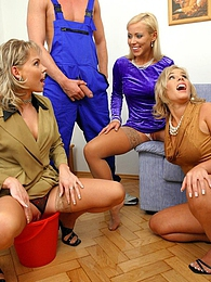 These two slutty chicks fucking two dudes fully clothed pictures at dailyadult.info