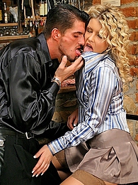 Chick uses her silk shirt while sucking and fucking her guy pictures