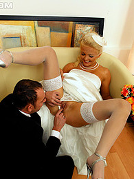 Very horny bride and groom enjoy penetrating hot friend pictures at kilomatures.com