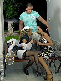 A very horny clothed teenage threesome shagging hardcore pictures at dailyadult.info