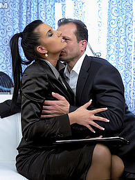 Pretty hot chick fucking her horny boss for a better job pics