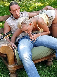 Large group of people having groupsex during outdoor BBQ pictures at very-sexy.com