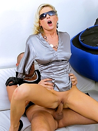Cute and very sexy blonde loves riding his big stiff knob pictures at kilovideos.com