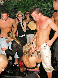 Partying dirty sluts take cock during a big group sex party pictures at freekiloclips.com
