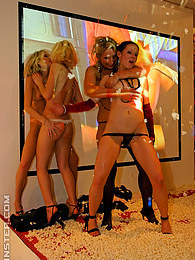 Intoxicated beauties fucked hard by big horny strippers pictures at freekilosex.com