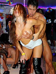 Very drunk horny female beauties fucked by male strippers pictures
