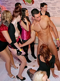 Amazing intoxicated chicks love screwing male strippers pictures at adspics.com