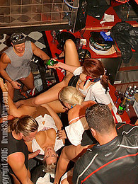 Many drunk chicks nailed hardcore at a horny orgy party pictures at freekiloporn.com