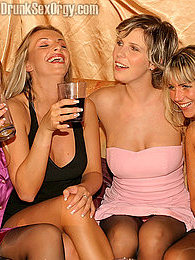 Group of lesbians getting drunk and enjoying some group sex pictures at lingerie-mania.com