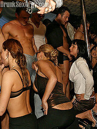 2 hot blonde drunk chicks sucking hard cock in the disco pictures at freekiloporn.com