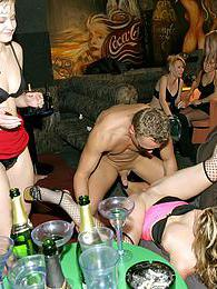 Hot drunk girls party hard and get fucked at wild party pics