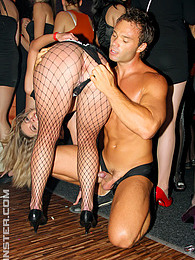 Horny male strippers fucking hot babes at a crazy party pictures at lingerie-mania.com