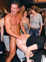 Fire breathing dude screws many chicks at a big sex party pictures at find-best-panties.com