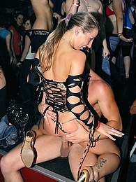 Alcohol drinking sweeties banged at a massive dance club pictures at find-best-panties.com