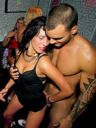 Sexy drunk slutty chicks at a party suck and fucks hard cock pictures at freekiloporn.com