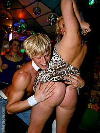 Daring sweethearts fucking chaps at the local dance club pictures