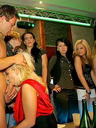 Slutty girls out drinking and giving sloppy head at a party pictures at kilosex.com