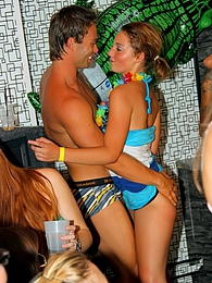 Strippers shagging drunk beauties at a crazy porn party pictures at freekilomovies.com