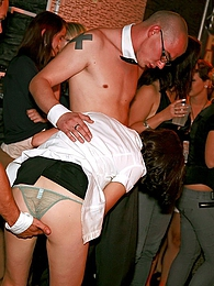 Dancing drunk sweethearts nailed at a big sex club hard pictures at freekilomovies.com